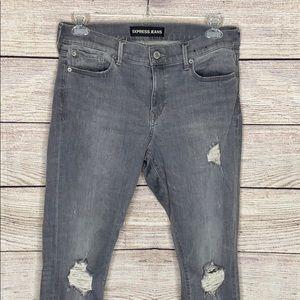 Express Jeans Distressed Legging Midrise Skinny
